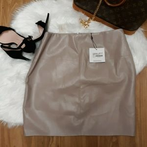 NWT Misguided vegan faux leather skirt
